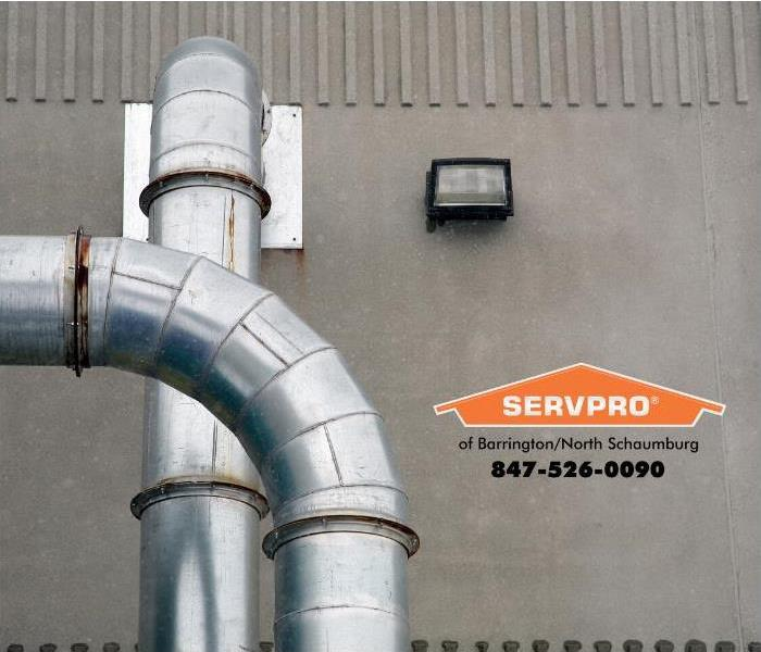Photo of commercial ductwork