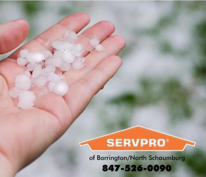 hail stones collected in a hand