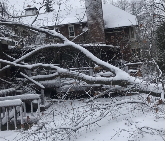 Storm Damage When winter storms arrive, SERVPRO of Barrington / North Schaumburg Responds